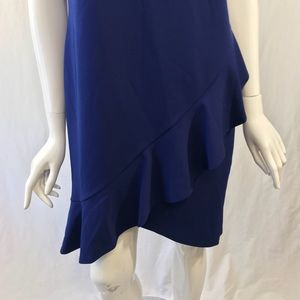 bebe Dresses - Bebe Blue Ruffle Dress Size 12